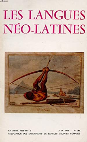 LES LANGUES NEO-LATINES, 82e ANNEE, N° 265,: COLLECTIF