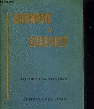 HARMONIE ET SERENITE: SAINT-PIERRE ELISABETH