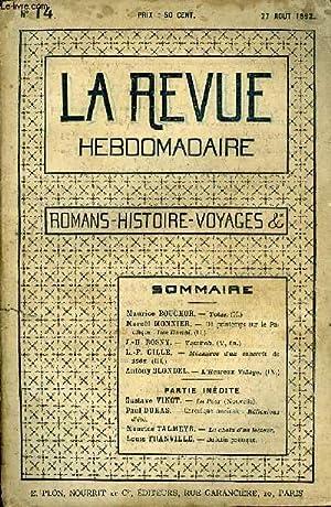 LA REVUE HEBDOMADAIRE TOME 3 N°14 -: COLLECTIF