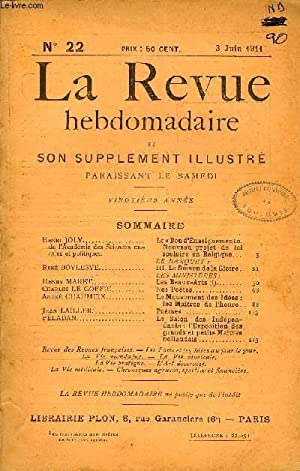 LA REVUE HEBDOMADAIRE ET SON SUPPLEMENT ILLUSTRE: COLLECTIF