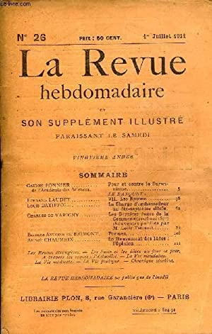 LA REVUE HEBDOMADAIRE ET SON SUPPLEMENT ILLUSTRE: COLLECTIF