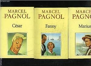 1 LOT DE 3 LIVRES: MARIUS- FANNY-: PAGNOL MARCEL.