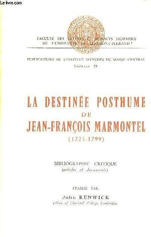 LA DESTINEE POSTHUME DE JEAN-FRANCOIS MARMONTEL - FACULTE DES LETTRES ET SCIENCES HUMAINES DE L&#...