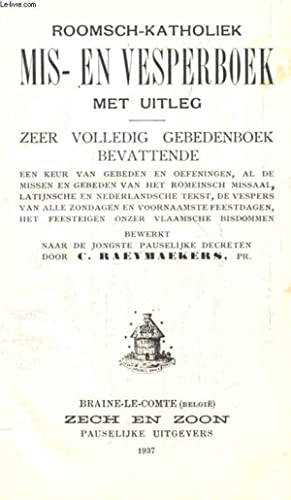 ROOMSCH-KATHOLIEK MIS- EN VESPERBOEK MET UITLEG, ZEER: RAEYMAEKERS C.