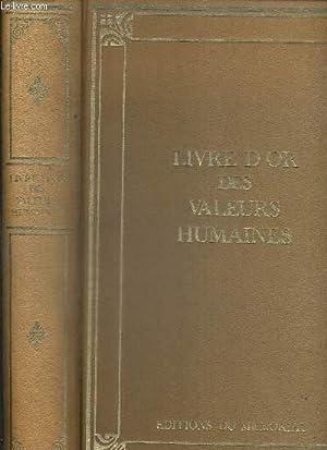 LIVRE D'OR DES VALEURS HUMAINES: DE SALSES EDMOND