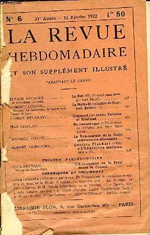 LA REVUE HEBDOMADAIRE ET SON SUPPLEMENT ILLUSTRE L'INSTANTANE TOME II N°6 - ÉL&...