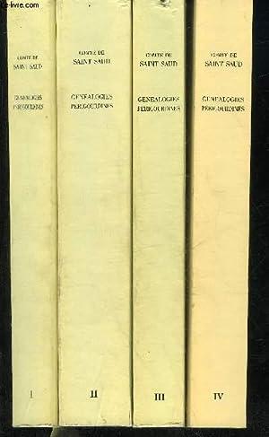 GENEALOGIES PERIGOURDINES - EN 4 TOMES - TOMES 1 + 2 + 3 + 4 .: COMTE DE SAINT SAUD