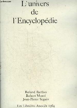 L'UNIVERS DE L'ENCYCLOPEDIE.: BARTHES ROLAND &