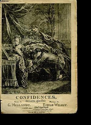 CONFIDENCES, GAVOTTE CHANTEE: WESLY EMILIE