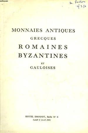 1 CATALOGUE - MONNAIES ANTIQUES GRECQUES ROMAINES: COLLECTIF