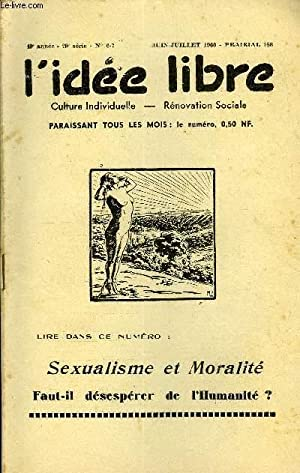 L'IDEE LIBRE 49e ANNEE N°6-7 - Espoir,: COLLECTIF