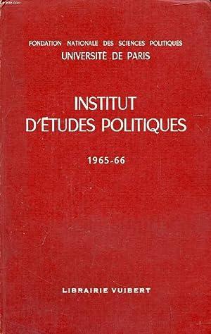 INSTITUT D'ETUDES POLITQIUES, 1965-1966: COLLECTIF