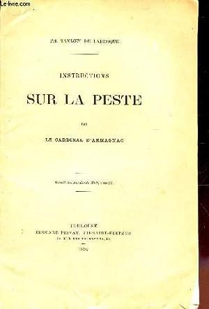 INSTRUCTIONS SUR LA PESTE PAR LE CARDINAL: TAMIZEY DE LARROQUE