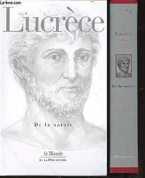 """DE LA NATURE - COLLECTION """"LE MONDE DE LA PHILOSOPHIE"""" N°19.: LUCRECE"""