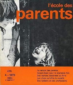 L'ECOLE DES PARENTS N°4 - S'adapter au: COLLECTIF