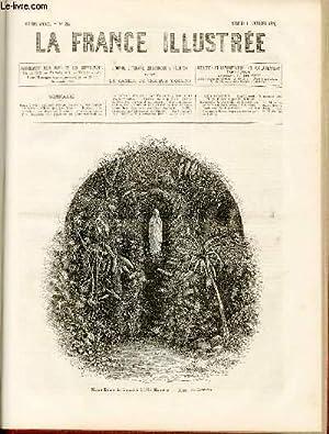 LA FRANCE ILLUSTREE N° 254 - Notre-Dame de Lourdes à l'ile Maurice, dessin de Edward.: ...
