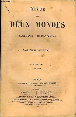 REVUE DES DEUX MONDES XXXIIe ANNEE N°3 - I.—LE COMTE KOSTIA, première partie, par M. ...
