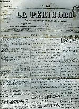 LE PERIGORD JOURNAL DES INTERETS NATIONAUX ET PROVINCIAUX N°161 1844 - Périgueux - deuxi...