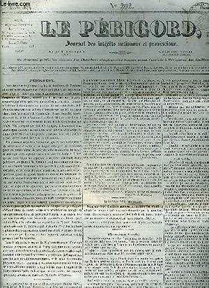 LE PERIGORD JOURNAL DES INTERETS NATIONAUX ET PROVINCIAUX N°202 1844 - Périgueux - les ...
