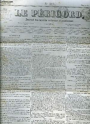 LE PERIGORD JOURNAL DES INTERETS NATIONAUX ET PROVINCIAUX N°217 1844 - Périgueux - ...