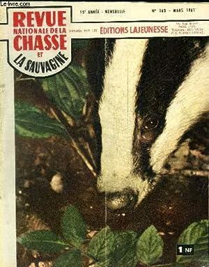 REVUE NATIONALE DE LA CHASSE ET LA SAUVAGINE N°163 - MARS 1961 - Sommaire : A propos des ...