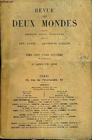 REVUE DES DEUX MONDES LXVe ANNEE N°1: COLLECTIF