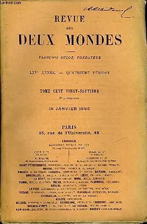 REVUE DES DEUX MONDES LXVe ANNEE N°2: COLLECTIF