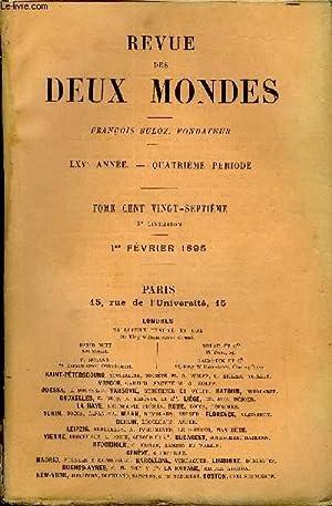 REVUE DES DEUX MONDES LXVe ANNEE N°3: COLLECTIF