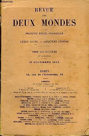 REVUE DES DEUX MONDES LXXIIIe ANNEE N°2: COLLECTIF