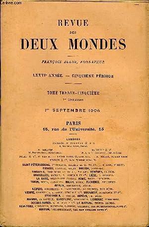 REVUE DES DEUX MONDES LXXVIe ANNEE N°1 - I.  MONSIEUR ET MADAME MOLOCH, troisième partie, parM. ...