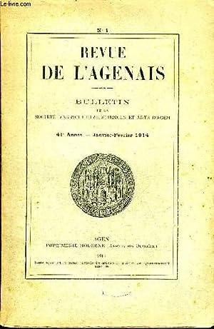 REVUE DE L'AGENAIS - 41EME ANNEE - N° 1 - La société agenaise au XVIIIe siècle par le chanoine ...