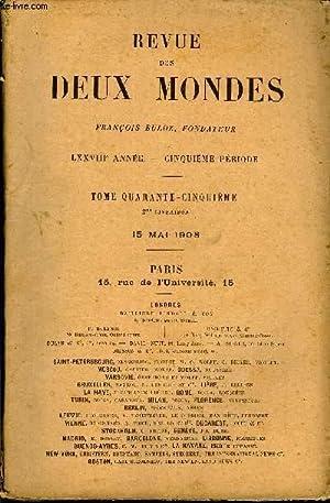 REVUE DES DEUX MONDES LXXVIIIe ANNEE N°2 - I- — PATRICE, fragmens de roman, par Ernest Renan.II...