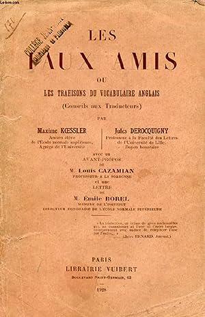LES FAUX-AMIS, OU LES TRAHISONS DU VOCABULAIRE: KOESSLER MAXIME, DEROCQUIGNY