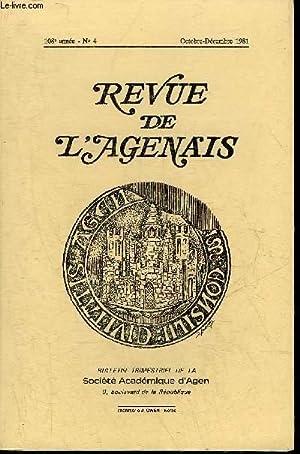 REVUE DE L'AGENAIS - 108EME ANNEE -: COLLECTIF