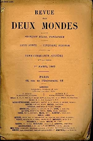 REVUE DES DEUX MONDES LXXXe ANNEE N°3 - I.— LA FAIBLESSE HUMAINE, quatrième partie, par ...