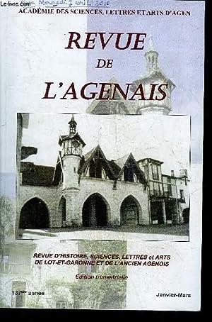 REVUE DE L'AGENAIS - 137EME ANNEE -: COLLECTIF