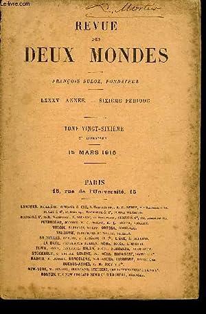 REVUE DES DEUX MONDES LXXXVe ANNEE N°2 - I.  LA FAMILLE IMPÉRIALE ALLEMANDE.   LA COUR.   ...