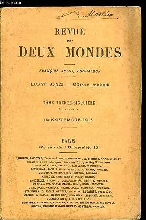REVUE DES DEUX MONDES LXXXVIe ANNEE N°2 - I._ UNE HEURE SOLENNELLE DE L'HISTOIRE DE FRANCE : ...