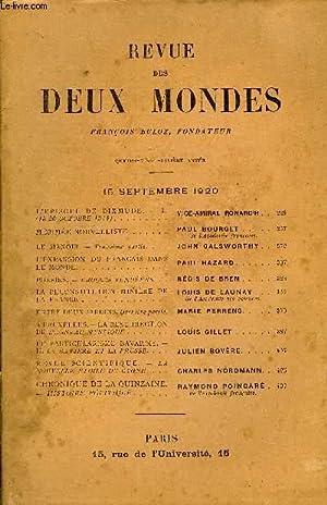 REVUE DES DEUX MONDES XCe ANNEE N°2 - L'ÉPISODE DE DIX MUDE. — I.(15-26 OCTOBRE 1914) ...