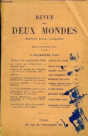 REVUE DES DEUX MONDES XCe ANNEE N°3 - VOYAGE EN ALLEMAGNE (1870). HIPPOLYTE TAINE. .AU TEMPS DE...