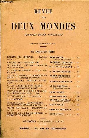 REVUE DES DEUX MONDES XCVIe ANNEE N°2 - BALTUS LE LORRAIN. — Troisième partie. REN&...