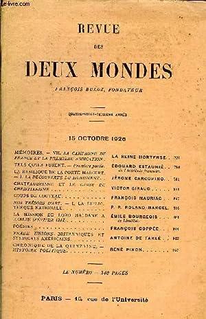 REVUE DES DEUX MONDES XCVIe ANNEE N°4 - MEMOIRES. - VII. LA CAMPAGNE DEFRANCE ET LA PREMIERE ...