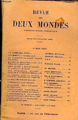 REVUE DES DEUX MONDES XCIXe ANNEE N°1 -LE MARÉCHAL FOCH. GÉNÉRAL WEYGAND. ...