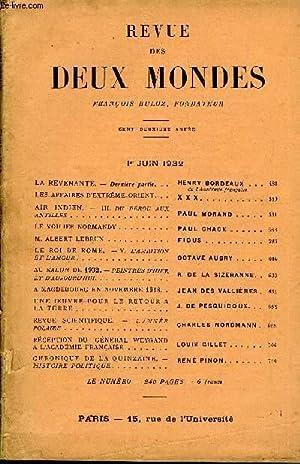 REVUE DES DEUX MONDES CIIe ANNEE N°3 - LA REVENANTE. — Dernière partie. HENRY BORDEAUX. ...