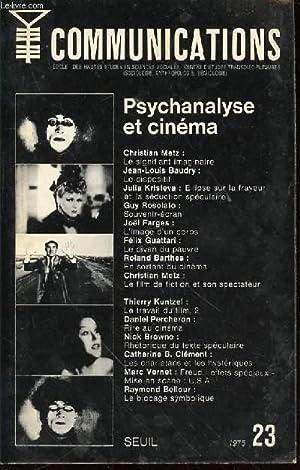 COMMUNICATIONS N°23 : PSYCHANALYSE ET CINEMA -: COLLECTIF