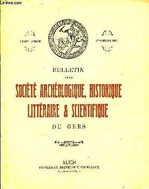 BULLETIN DE LA SOCIETE D'HISTOIRE ET D'ARCHEOLOGIE DU GERS - 2EME TRIMESTRE - 64EME ANNEE...