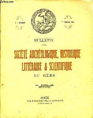 BULLETIN DE LA SOCIETE D'HISTOIRE ET D'ARCHEOLOGIE DU GERS - 1ER TRIMESTRE - 60EME ANNEE ...