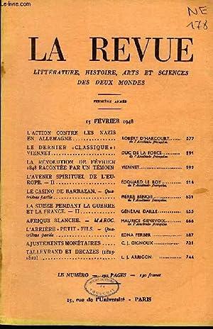 LA REVUE LITTERATURE, HISTOIRE, ARTS ET SCIENCES DES DEUX MONDES PREMIERE ANNEE N°4 - L'...