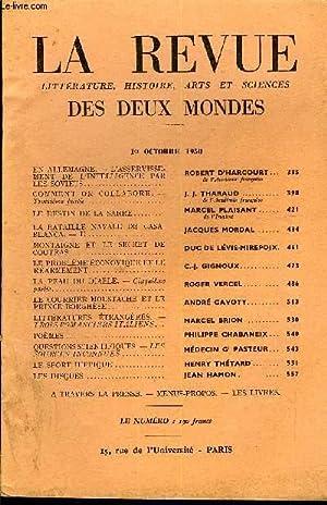 LA REVUE LITTERATURE, HISTOIRE, ARTS ET SCIENCES DES DEUX MONDES N°19 - EN ALLEMAGNE. — L'...