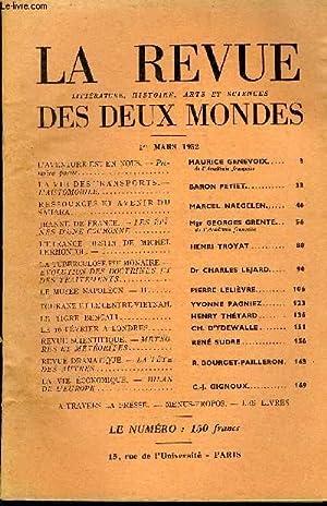 LA REVUE LITTERATURE, HISTOIRE, ARTS ET SCIENCES DES DEUX MONDES N°5 - L'AVENTURE EST EN NOUS. ...